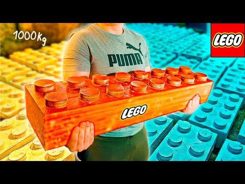 СДЕЛАЛИ ОГРОМНОЕ LEGO ВЕСОМ 1 ТОННА!)
