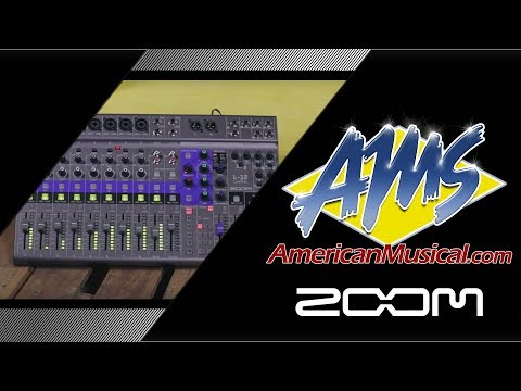 Zoom L-12 Digital Mixer Overview - American Musical Supply