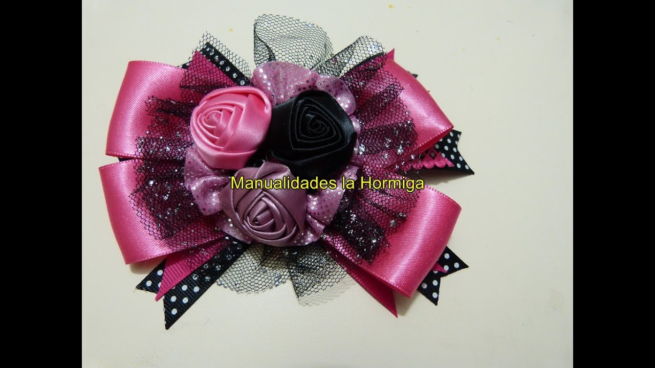 Como elaborar moños y flores fáciles,How To Make a Hair Bow,No. 321 , YouTube