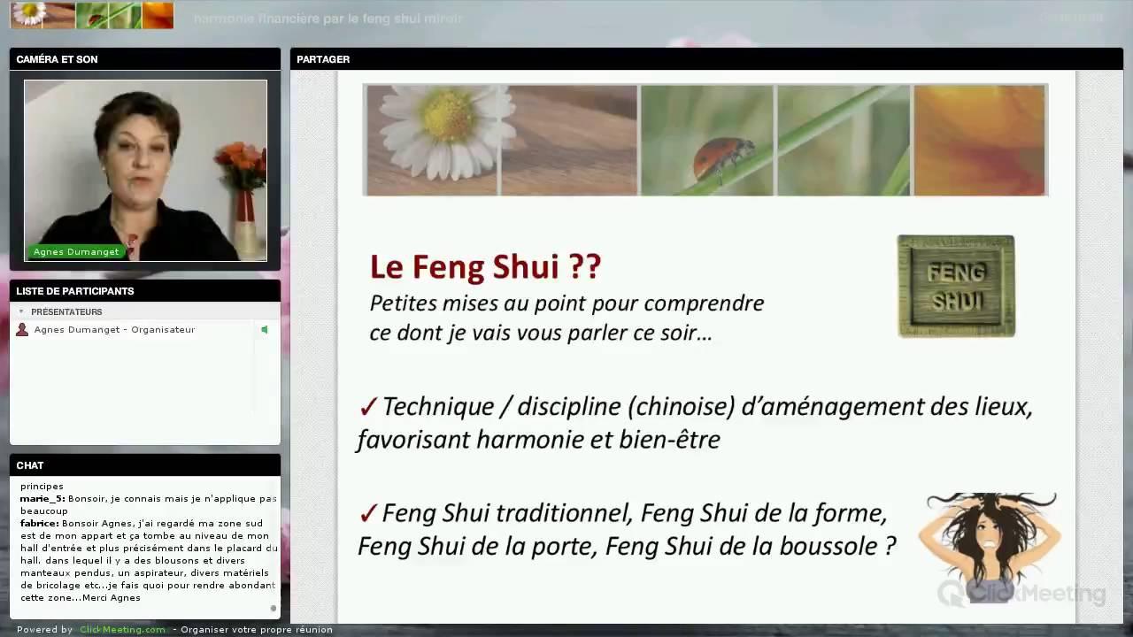 conf rence harmonie financi re par le feng shui miroir youtube. Black Bedroom Furniture Sets. Home Design Ideas