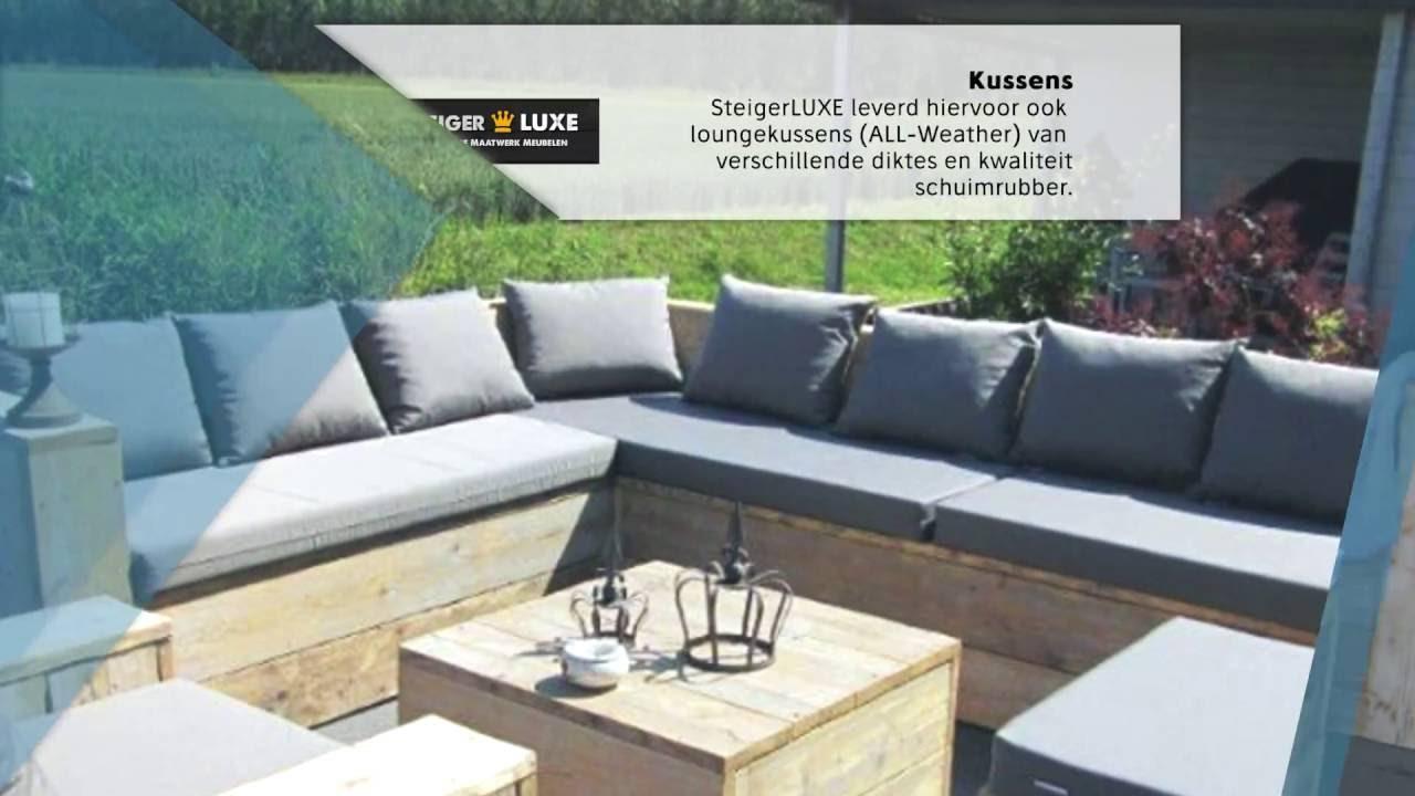 Luxe Steigerhouten Loungeset.Steigerluxe Steigerhout Maatwerk Loungeset