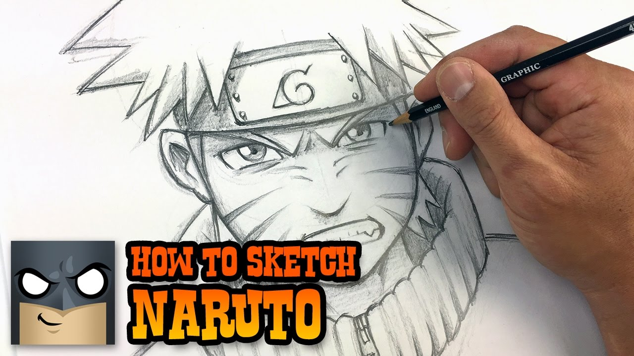 How to draw naruto sketch tutorial