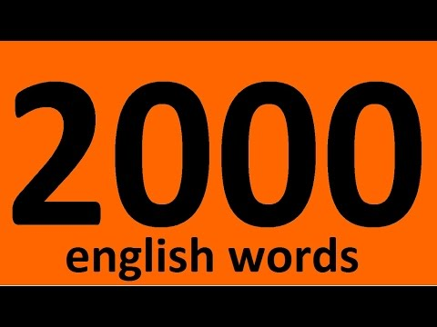 2000 ENGLISH WORDS WITH EXAMPLES. Vocabulary words. English.