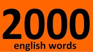 vuclip 2000 ENGLISH WORDS WITH EXAMPLES. Vocabulary words. English. Learn English words