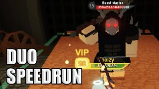 WORLD RECORD // DUO SPEEDRUN ON KING'S CASTLE *NIGHTMARE HARDCORE* | ROBLOX Dungeon Quest