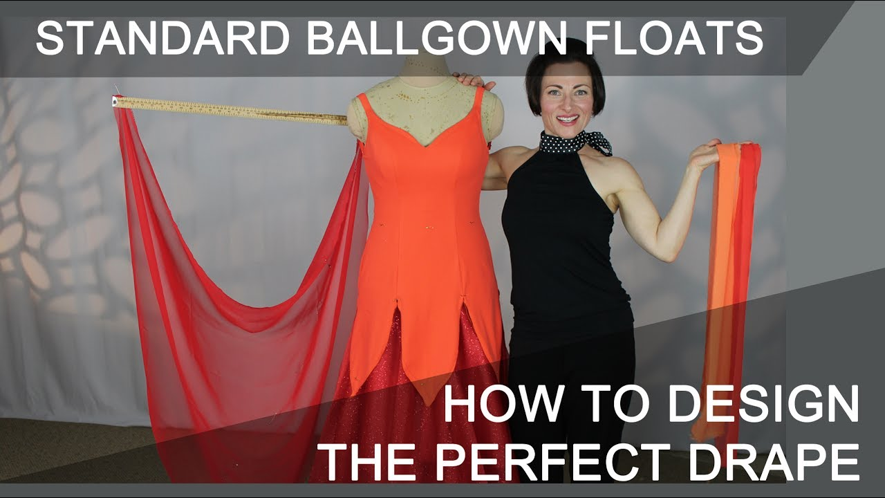 68bfe901b How to Make Standard Floats for Your Ballroom Competition Dress. Sew Like A  Pro