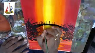 Acrylic painting scenary by venkata Ramana Aitha