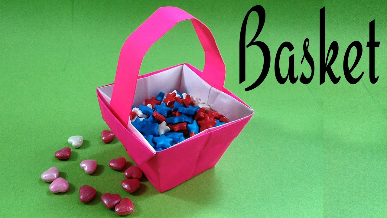 Flower fruit easter basket diy origami tutorial by paper folds flower fruit easter basket diy origami tutorial by paper folds mightylinksfo