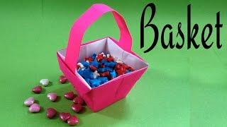 Origami Paper Flower / Fruit/ Easter Basket (Home Decor) - Paper Folds !!