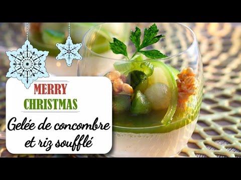 gelée-de-concombre-et-riz-soufflé-au-caramel---recette-noël