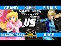Smash Ultimate Tournament Grand Finals - Pasta (Peach) vs Juice (Zero Suit Samus) - CN:B-Airs 167