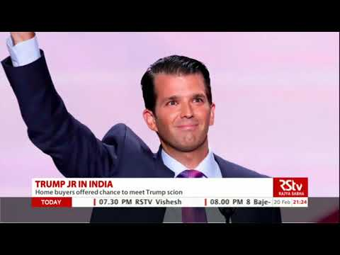 Donald Trump Jr promotes his business in India