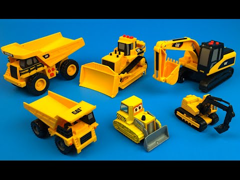Thumbnail: Mighty Machines & Playdoh Play - Excavators Bulldozers Construction Toys & Truck Toys For Kids