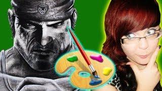 Gears of War 3 Drawing: Marcus Fenix