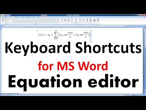 How to use MS Word Equation editor to write Mathematical equation/expression using Keyboard shortcut thumbnail
