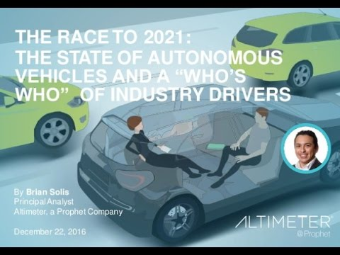 Brian Solis New E-Book On The Autonomous Vehicles Industry Is A Must Read