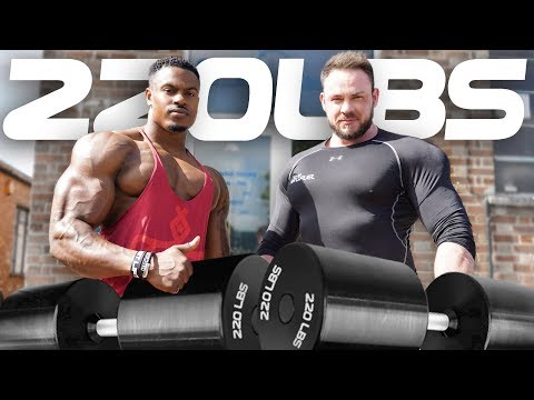 220LBS DUMBBELL PRESS - Simeon Panda & Sean Frederick Parker