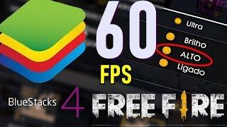 COMO RESOLVER OS BUGS DO FREE FIRE NO BLUESTACKS 4 + JOGUE A 60 FPS! SEGREDO REVELADO! 2019