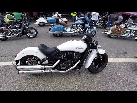Indian Scout Sixty vs Harley Roadster, Laconia 2016