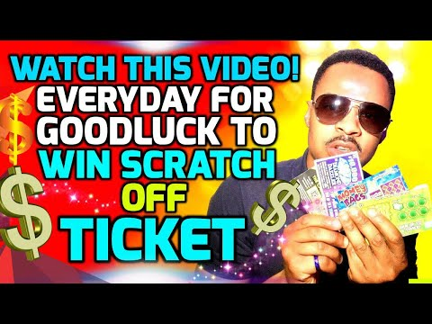 WATCH THIS VIDEO To Win the JACKPOT Playing Scratch Off Lottery Tickets (LUCKY NUMBERS!)