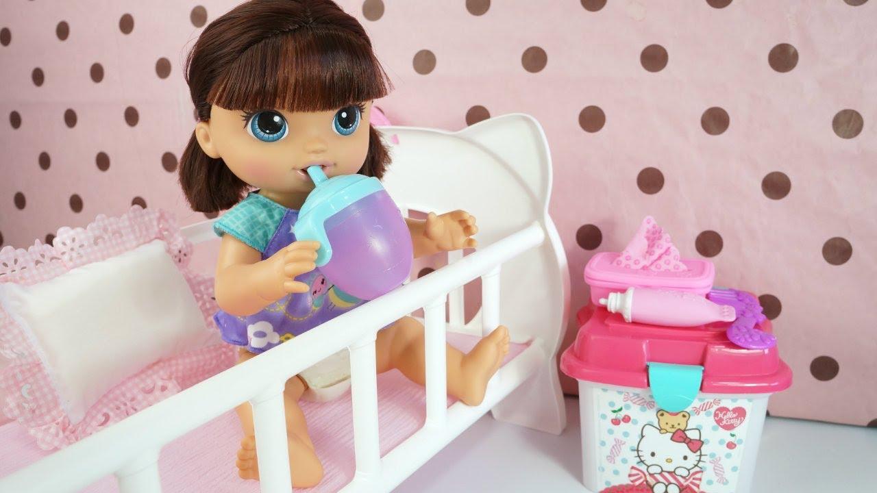 Baby Alive Fraldinha Magica Faz Xixi Minha Boneca Sara Comilona Apresentando A Nova Irma Youtube