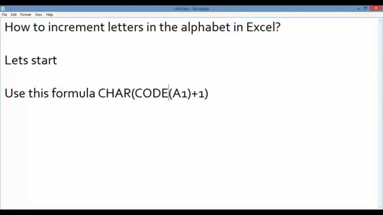 how to add value to letters in excel