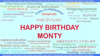 Monty   Languages Idiomas - Happy Birthday