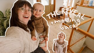 THE FINAL REVEAL & Moving Back In!! // Life with Kids While Pregnant During Renos