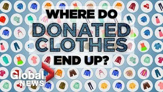 How donated clothes are sorted and reused
