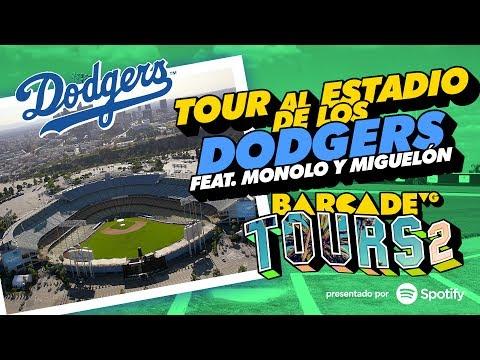 Tour al estadio de los Dodgers con Manolo y Miguelón