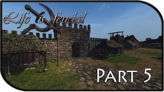 Life Is Feudal Gameplay Part 5 - Massive Castle + Town!