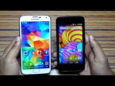 New CANVAS A1 vs GALAXY S5 Speed Test! (Android One vs TouchWiz)