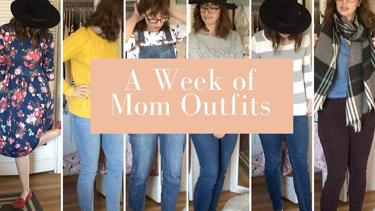 [VIDEO] - WHAT I WEAR IN A WEEK: SAHM Thrift Style Mom Outfits Fall 2019 2