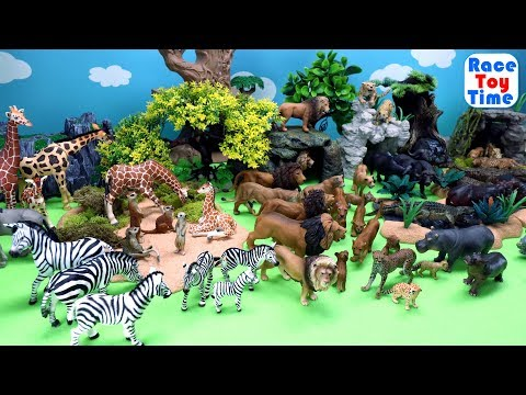 Toy Wild Safari Animals - Learn Zoo Animals Names For Kids