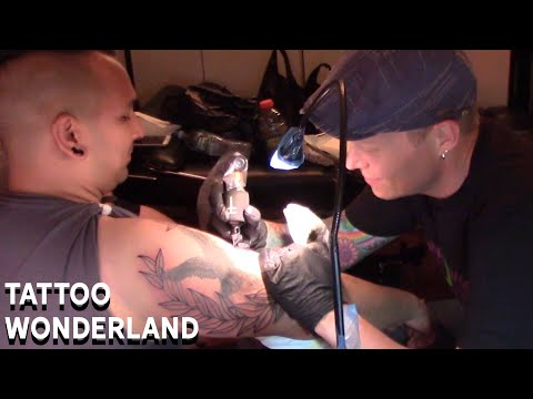Tattoo Wonderland - Whip Shaded Laurel Wreath Add-On Time Lapse