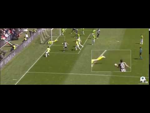 Il quasi gol da calcio d'angolo di De Paul in Udinese-Atalanta