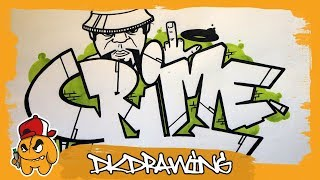 How to draw graffiti letters crime & character
