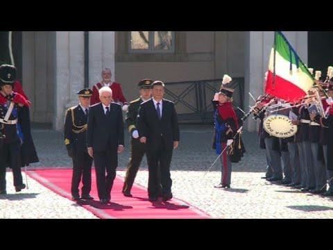 Rome : Xi Jinping arrive au Palais du Quirinale | AFP Images