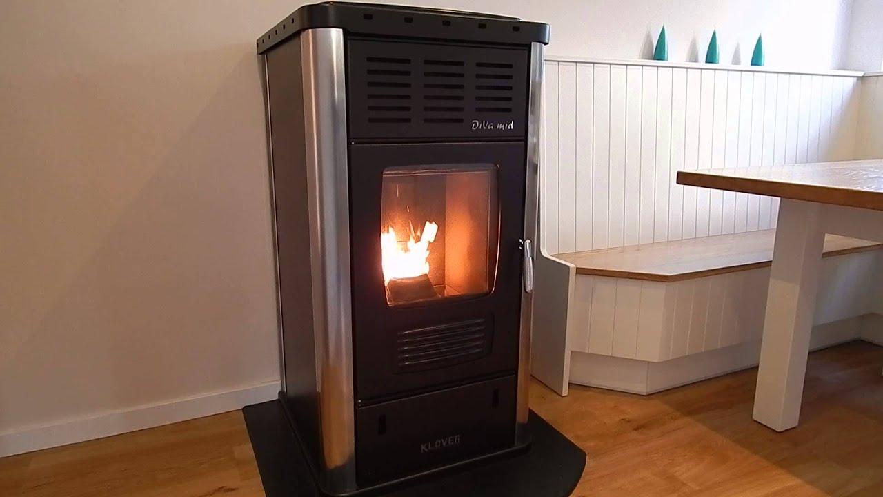 Klover Diva Mid Biomass Wood Pellet Central Heating Stove ...
