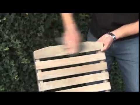 Пример восстановления старой мебели с помощью средства для удаления серого слоя древесины от компании OSMO