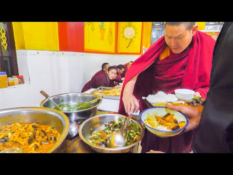 TIBETAN CHINESE Street Food Tour in REMOTE China! YAK SASHIMI, TEMPLE FOOD, + UNKNOWN Street Foods