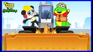 Gus the Gummy Gator Learns about Construction Vehicles and other Modes of Transport!