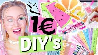 UNTER 1€ DIY's & HACKS für die Schule, Uni, Schreibtisch | ViktoriaSarina