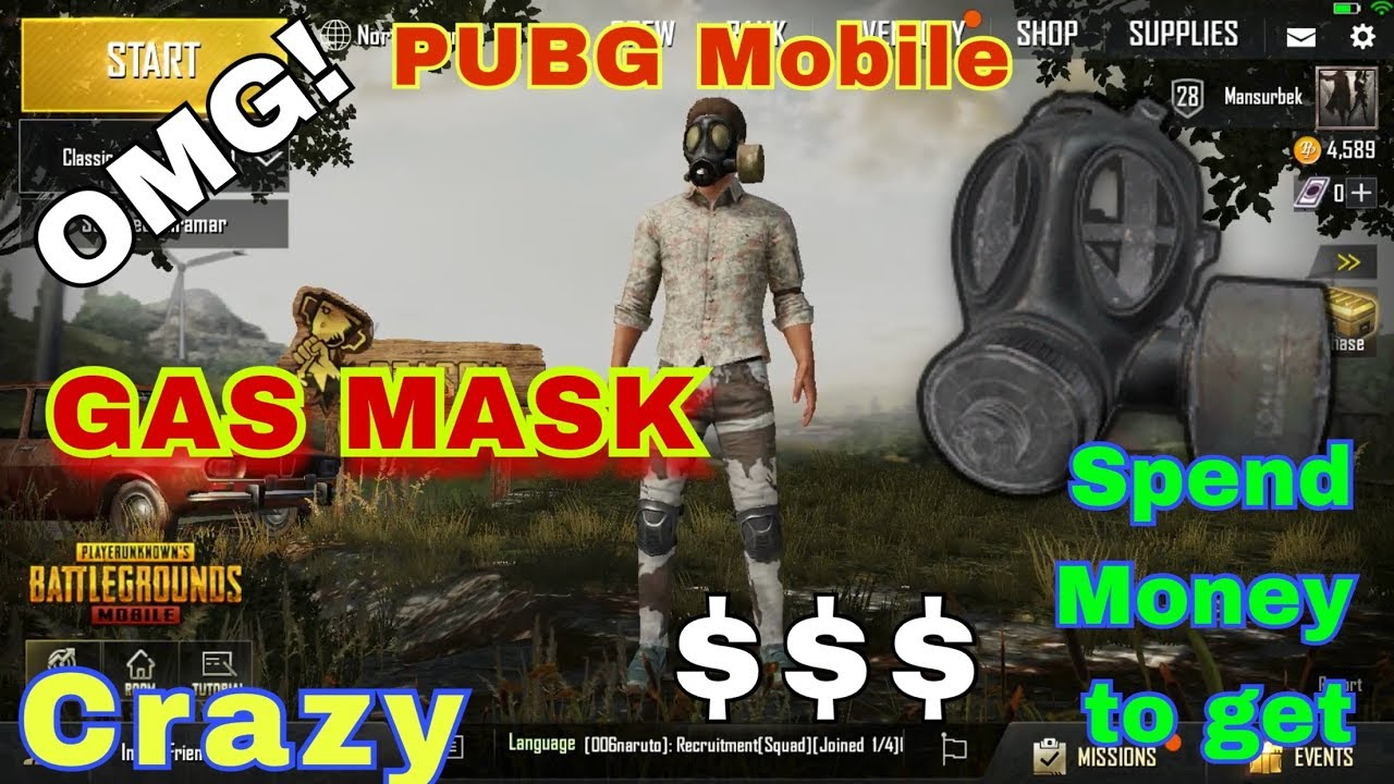 Crazy Gas Mask Spend Money Game To Get Pubg Mobile Youtube