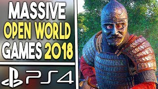 Top 10 BIG PS4 OPEN WORLD Games of 2018
