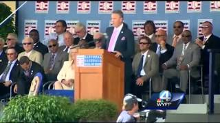 WYFF News 4 attends hall of fame ceremony for Glavine, Maddux & Cox
