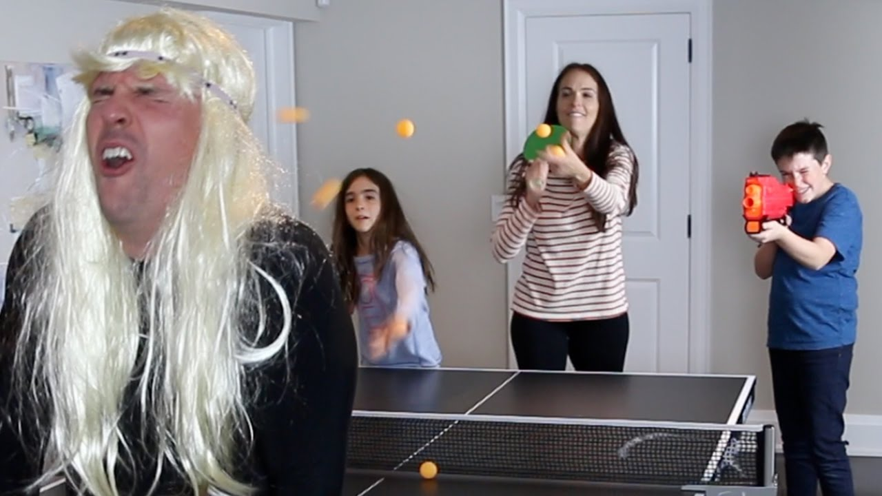 Ping Pong Vs Nerf Gun Youtube