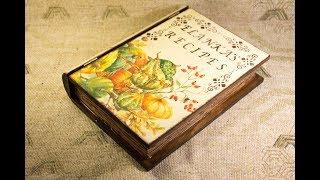 №53 Декупаж шкатулки-книги в деревенском стиле - мастер-класс для начинающих по работе с трафаретами