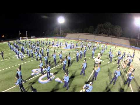 Walnut High School Blue Thunder Marching Band - Field Show 2014 Aerial Footage