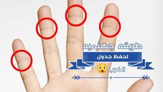 طريقه جهنميه😲لحفظ جدول الضرب بسرعة الصاااروخ 👍ابهرت مدرسين اولادي لسرعتهم علي الاجابه 👍👍